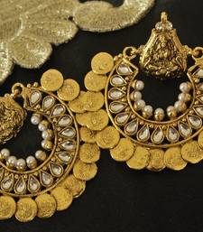 Buy Kundan Ram Leela Earrings hoop online