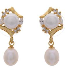 Buy FASHIONABLE & ELEGANT SILVER POLISHED PEARL HANGINGS danglers-drop online