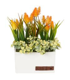 Buy Charming Yellow Green Artificial Plant with Pot flower online