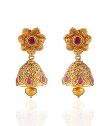 Buy Just awesome Gold Plated kundan earring jhumka online