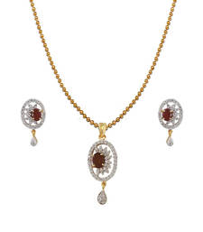 Buy Heena Contemporary Collection Pendent Set >> HJPN117BR << party-jewellery online