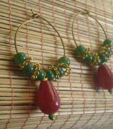 Buy Red Green Hoop Earrings Earring online, Buy Earrings online