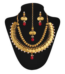 Buy Gold plated  temple set necklace-set online
