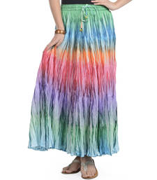 Multicolor Cotton Long Skirt shop online
