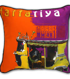 Buy Yellow Taxi Cushion Cover other-home-furnishing online
