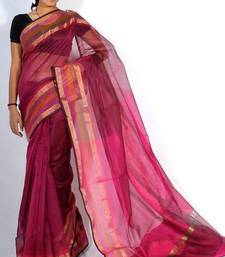 Buy Supernet cotton banarasi zari border saree cotton-saree online