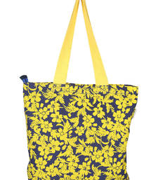 Buy Black & Yellow Canvas Tote Bag tote-bag online