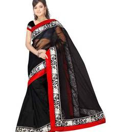Buy Deepika Padukone bollywood replica Net Black saree deepika-padukone-saree online