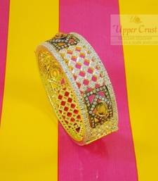 Buy CZ Broad Bangle Bracelet Openable Kada  bangles-and-bracelet online