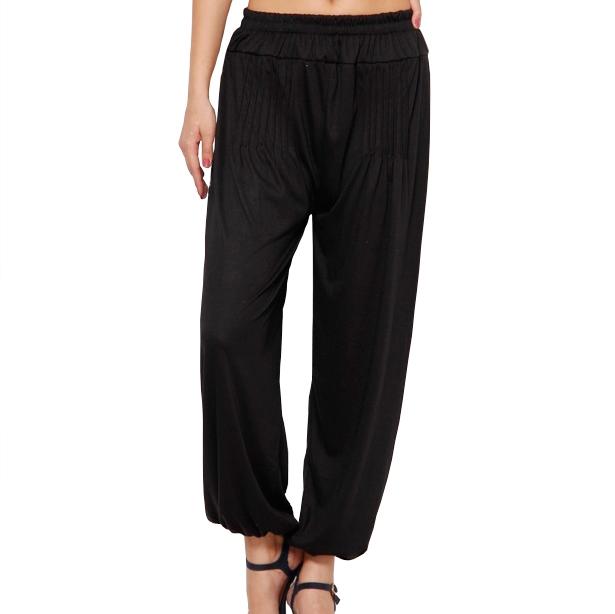 Buy Black Viscose Harem Pants Online