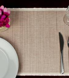 Buy Premium Talipot Table mats, striped - Pink - set of six table-mats-and-runner online