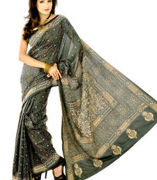 Buy Designer handloom sarees multi colour silk saree silk-saree online
