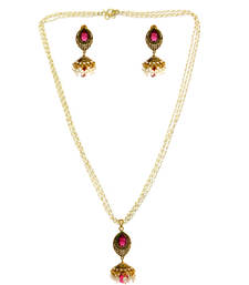 Buy Purple Spinel Jhumka Set necklace-set online