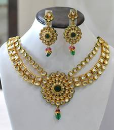 Kundan 3 lines Necklace Set shop online