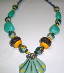 Buy Trendy Turquoise n Beads Necklace online