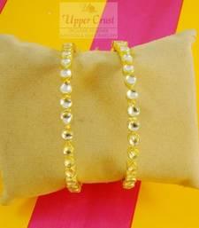 Buy Kundan Openable Kada Bangles bangles-and-bracelet online