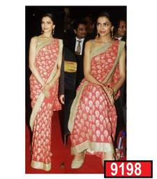 Buy Designer deepika padukone exclusive georgette shaded party wear saree deepika-padukone-saree online