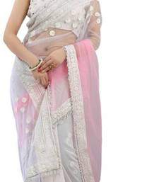 Buy Kareena Kapoor Bollywood Replica Designer White & Pink Manish Malhotra Designer Saree bollywood-saree online