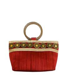 Buy Coin Embedded Boat Shaped (small shape) Bangle Bag (Maroon) clutch online