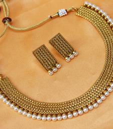 Buy GOLD PLATED NECKLACE necklace-set online