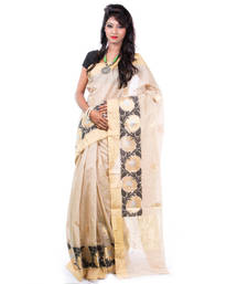 Buy TUSSAR hand woven cotton saree with blouse cotton-saree online
