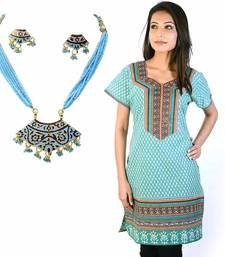 Buy Designer Sea Green Pure Cotton Kurti Mothers Day gifts-for-mom online