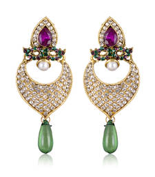 Buy Gorgeous Green And Purple Designer Earrings ER danglers-drop online