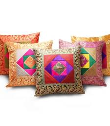 Banarasi Velvet Brocade 5 Pc. Cushion Cover Set shop online