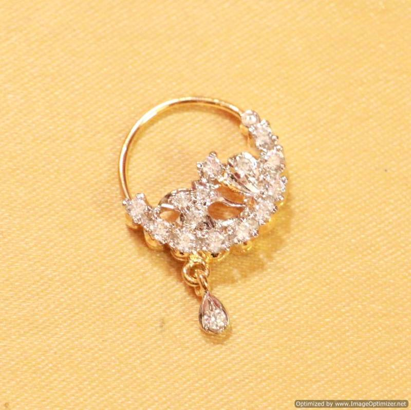 Buy Diamond Look Marathi Nose Ring Online
