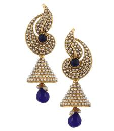 Buy Pearl flower Indian jhumka earring jhumki moti jhumka online
