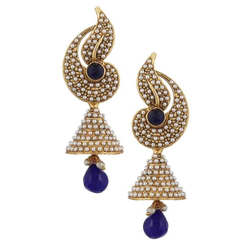 Designer Indian Earrings: Buy Pearl Flower Indian Jhumka Earring Jhumki Moti Online