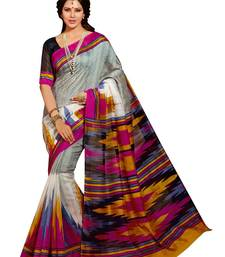 Buy Mutlicolur lace  Silk Fashion saree  with Blouse silk-saree online