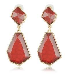 Buy Maroon red geometric shape earring  Earring online