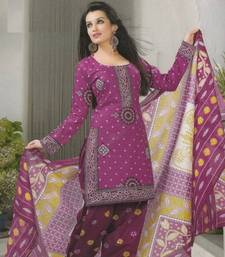 Buy Crepe dress material elegant designer unstitched salwar suit d.no 5151 dress-material online