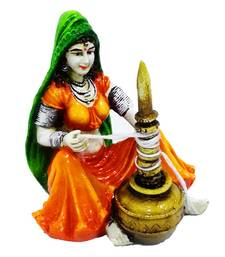 Buy Polyresine Rajasthani Lady with Chaas sculpture online