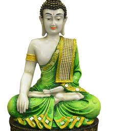 Buy Karigari India Polyresine Meditating Buddha Idol sculpture online