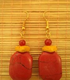 Buy Red Stone Earrings-02036 danglers-drop online