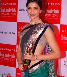 Buy Deepika Bollywood Replica Green Net Saree abbc net-saree online