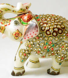 Buy Marble elephant pair thanksgiving-gift online