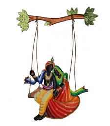Buy Radha Krishna on Swing Wall Hanging wall-art online