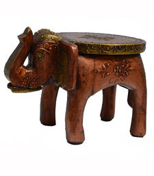 Buy Wooden Elephant Stool for Decoratives thanksgiving-gift online