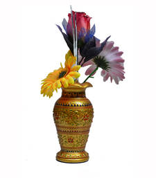 Buy Wooden Decorative Flower Vase thanksgiving-gift online