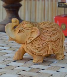 Buy Wooden Carved Elephant home-decor online