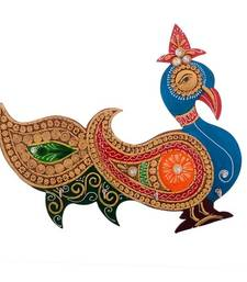 Buy Papier-Mache Beautiful Embossed Bird Design 4 Hooks Key holder home-decor online