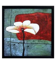 Buy Beautiful White Flower Satin Matt Texture Framed UV Art Print painting online