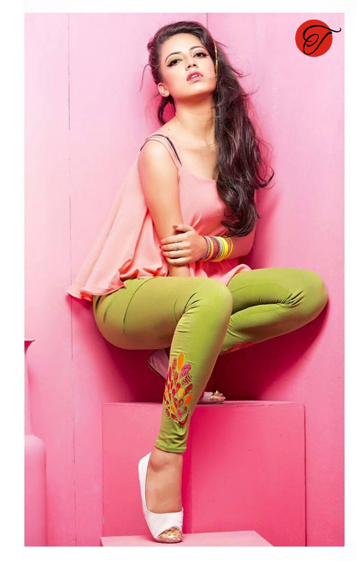 Buy Parrot Green Color Embroidered Leggings Online
