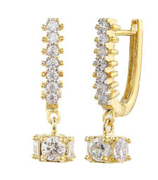 Buy Gold Cubic Zirconia hoops hoop online
