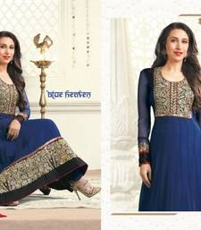 Buy Karishma Kapoor Blue Heaven Embroidered Suit Material salwars-and-churidar online