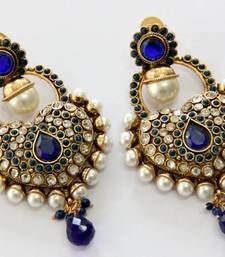 Buy ANTIQUE GOLD PLATED BLUE N WHITE PEARLS HANGINGS Other online