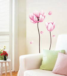 Buy The Pink Flower wall-decal online, Buy wall-decals online